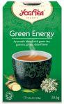 Чай Yogi Tea Green Energy 17 Teabags (1.8g) - аюрведический чай Йоги Чай Зелёная Энергия с гуараной пакетированный 17*1,8 г