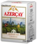 Чай Azercay Green Tea Jasmine 100g - зеленый листовой чай Азерчай с Жасмином 100 г картон