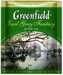 Чай Гринфилд Ерл Грей Фентези 100 пакетиков для офиса - чай Greenfield Earl Grey Fantasy с бергамотом эконом 100 пакетиков полиетилен
