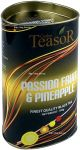 Чёрный чай Тисор Маракуйя Ананас 100 г тубус - Чай Teasor Black Tea Passion Gruit & Pineapple 100g