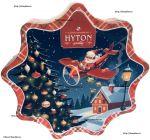 Чёрный Новогодний Цейлонский чай HYTON Snowman 100 g - чай чёрный Хитон Новогодний Дед Мороз на самолете ПЕКО без добавок 100 г ж/б