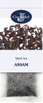 Чай Gerold Assam Black Tea - черный цейлонский чай без добавок Герольд Ассам в пакетиках на заварник 20*2,5 г