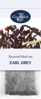 Чай Gerold Earl Grey Black Tea - черный чай c с бергамотом Герольд Эрл Грей в пакетиках на заварник 20*2,5 г