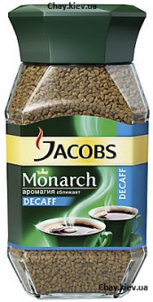 Кофе Jacobs Monarch без кофеина 100g - кофе растворимый Якобс Монарх без кофеина сублимированный 100 г