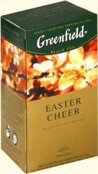 Чай Greenfield Easter Cheer 25*1,5g в пакетиках - черный фруктовый чай Грифилд Истер Чир Цитрус и Карамель пакетированный 25*1,5 г