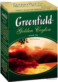 Чай Greenfield Golden Ceylon Black Leaf Tea 100g - чёрный листовой чай Гринфилд Голден Цейлон Золотой Цейлон без добавок 100 г