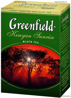 Чай Greenfield Kenyan Sunrise 100g без добавок - чёрный листовой чай Гринфилд Кениан Санрайз Кенийский Восход Солнца 100 г