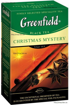 Чай Greenfield Christmas Mystery 100g Black Leaf Tea - листовой чёрный чай Гринфилд с добавками Рождественская Тайна 100 г