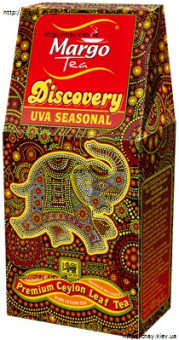 Чай Margo DISCOVERY UVA SEASONAL OPA Black Tea 100g - чёрный цейлонский крупнолистовой чай без добавок МАРГО УВА 100 г картон