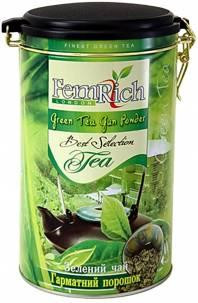 "Чай FemRich ""Green Tea Gun Powder"" 350g - зелёный чай без добавок ФемРич""""Пушечный Порох Ган Паудер"" 350 г, ж/б"